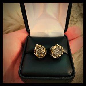 Neiman Marcus Crystal Druzy Earrings